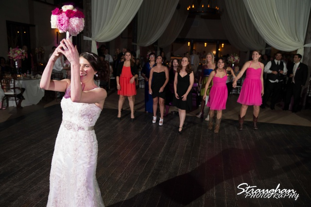 Jackie and Steve's wedding, tossing flowers