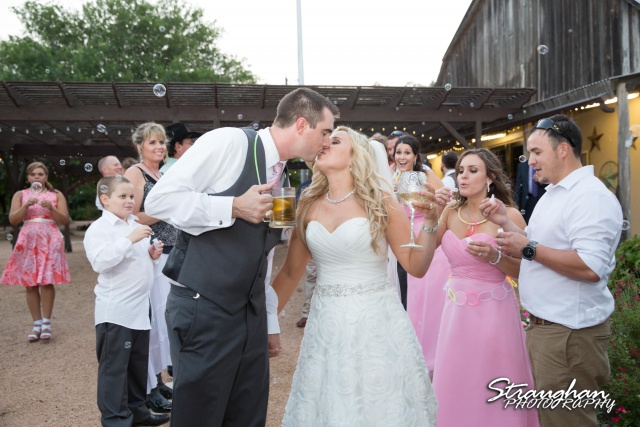 Eric and robyns wedding, bubble exit