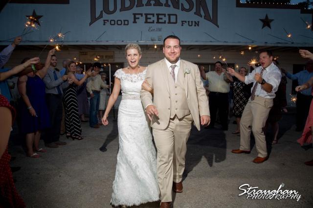 Emily and Brandon's Wedding, Annunciation Catholic Church garder toss