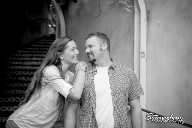 Amy engagement Riverwalk San Antonio BW at La Villtia