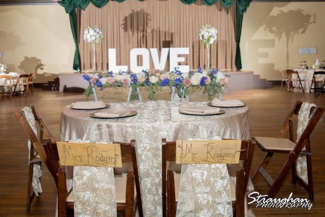Angie wedding Marriott New Braunfels head table