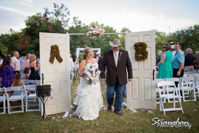 Angie wedding Marriott New Braunfels exit in doors