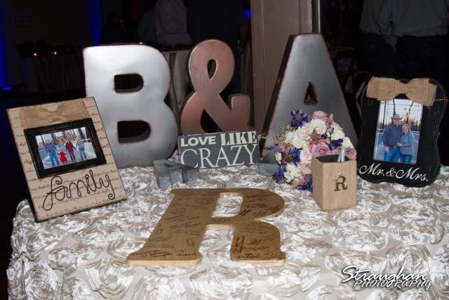 Angie wedding Seekats New Braunfels sign in