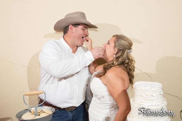 Angie wedding Seekats New Braunfels cake feeding