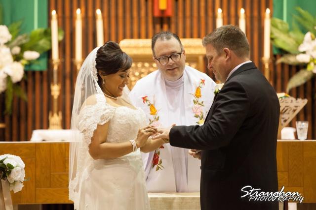 Anna wedding riverwalk San Antonio his ring
