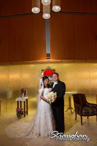 Anna wedding riverwalk San Antonio the couple church