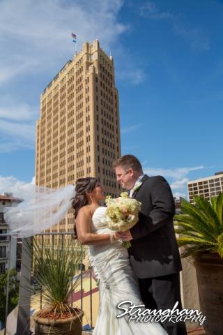 Anna wedding riverwalk San Antonio rooftop with Emily Morgan hotel