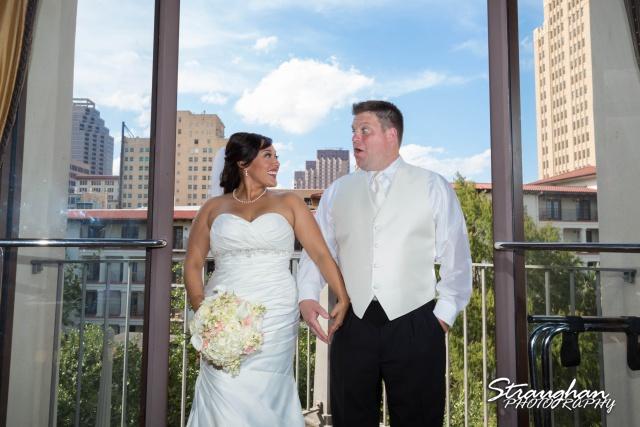 Anna wedding riverwalk San Antonio window heart