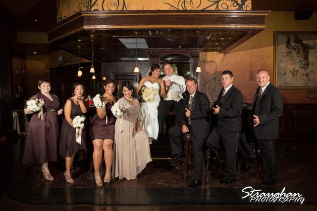 Anna wedding riverwalk San Antonio bridal party