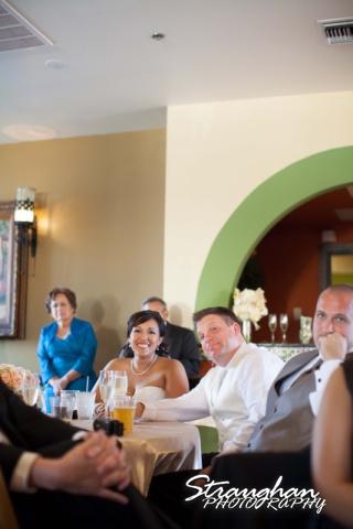 Anna wedding riverwalk San Antonio toasts with Christian