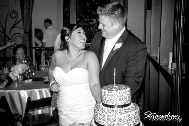 Anna wedding riverwalk San Antonio cake laughing