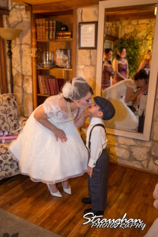Agustina wedding Scenic Springs kissing son