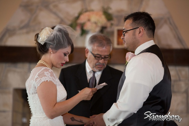 Agustina wedding Scenic Springs vows close up