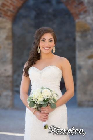 Allison H bridal Mission San Jose in arch