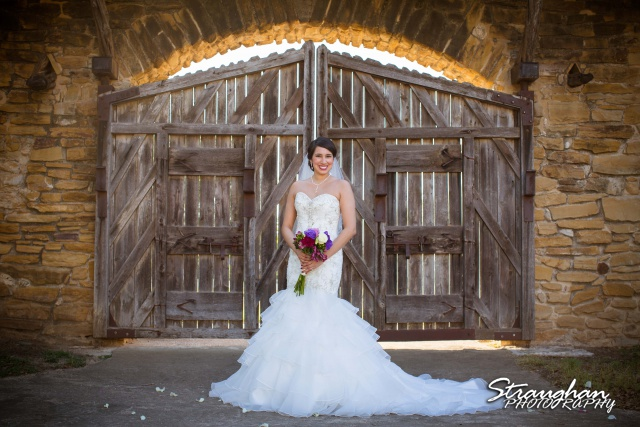 Alexis Bridal Mission San Jose at the gate