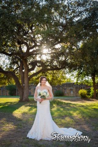 Allison H bridal Mission San Jose under tree