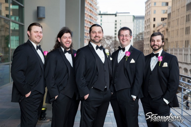 Allison wedding International Center the groomsmen