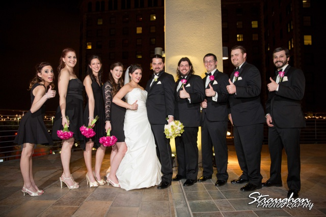 Allison wedding International Center bridal party