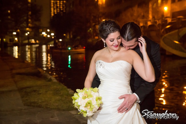 Allison wedding International Center couple on the riverwalk