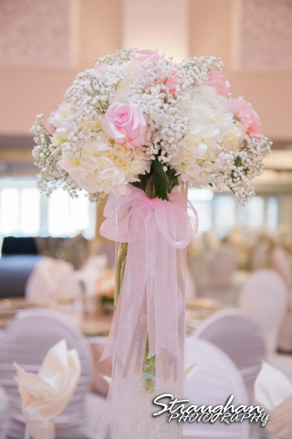 Amanda -Joey wedding Sheraton Gunter centerpiece tall