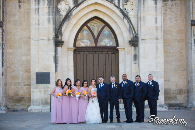 Amanda -Joey wedding San Fernando Cathedral the wedding party