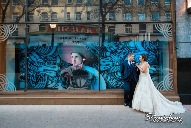 Amanda -Joey wedding Sheraton Gunter gallery window them