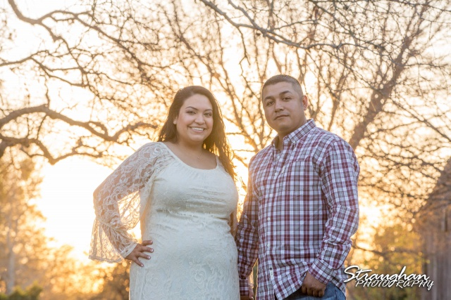 Alex and Johnny's engagement sunset photo