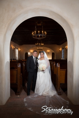 Alex wedding Lost Mission the couple in the chaple