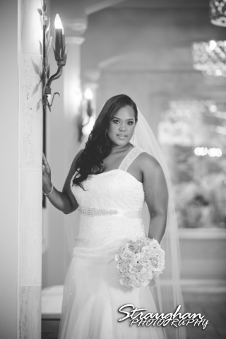 Allie's Bridal Hotel Eilan by wall black white