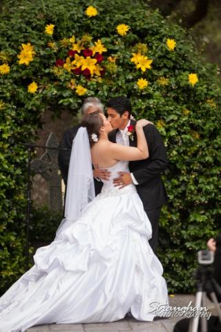 Allison wedding Castle Avalon kiss