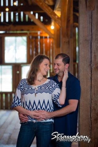 Allyson Engagement 1850 Settlement in the barn