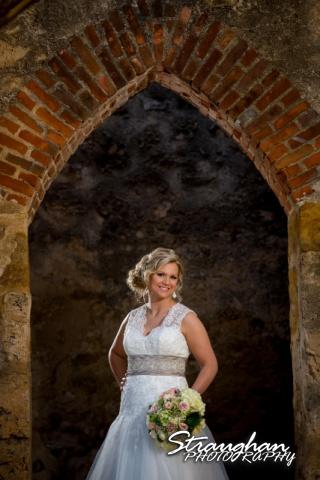 Amanda Shippy Bridal Mission San Jose portrait in arch