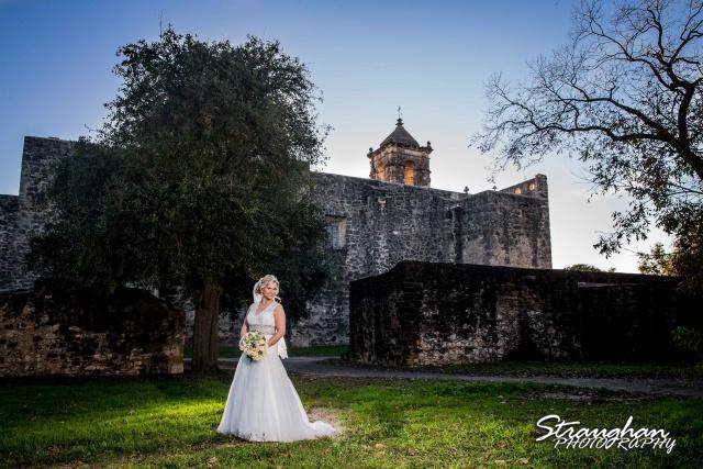 Amanda Shippy Bridal Mission San Jose back of mission