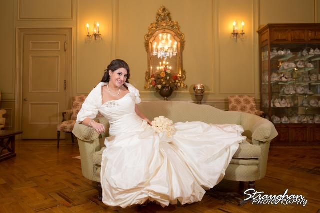 Allison bridal at Scottish Rite Theater San Antonio sofa