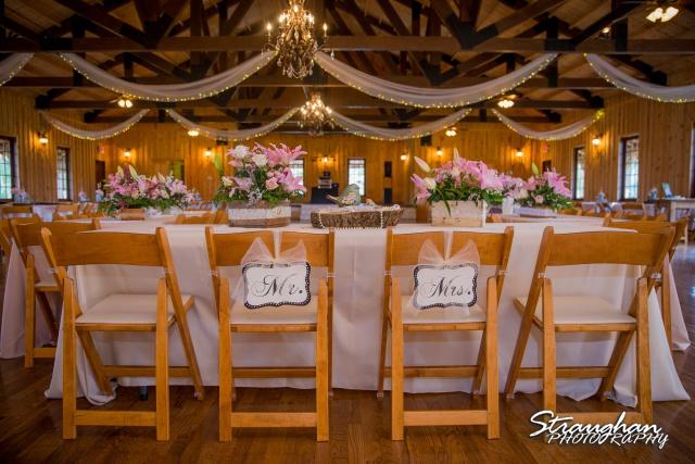 Pat wedding Bella Springs head table