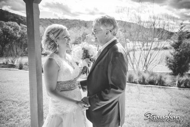 Pat wedding Bella Springs dads first look