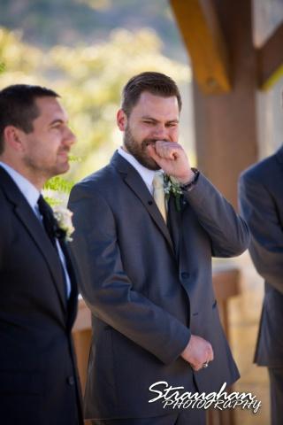 Pat wedding Bella Springs pats face