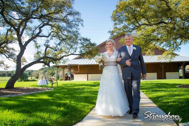 Pat wedding Bella Springs walk down asile