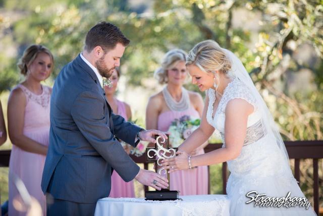 Pat wedding Bella Springs unity cross