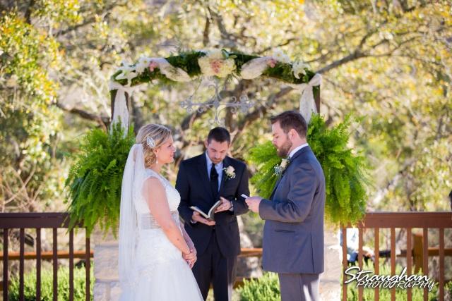Pat wedding Bella Springs the vows