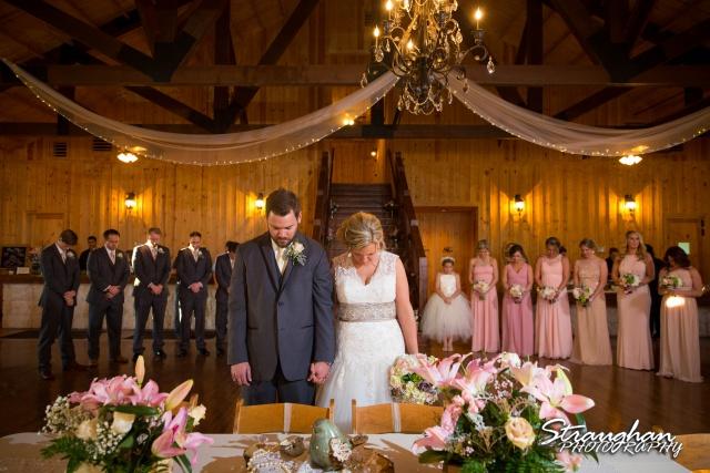 Pat wedding Bella Springs dinner prayer