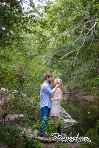 Amanda & Pat engagement Cibolo Natural area riverside