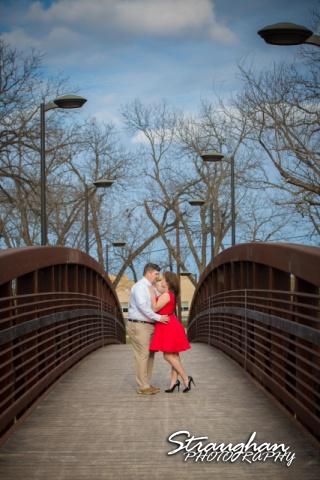 Andi's Engagement San Marcus on the bridge