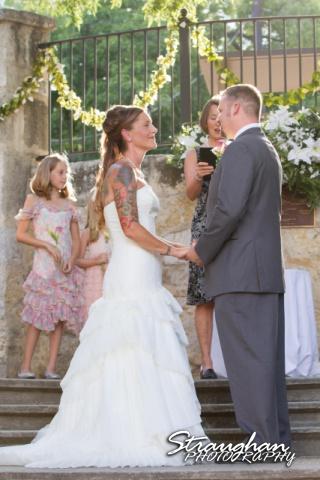 Sheehan wedding Inn on the riverwalk holding hands