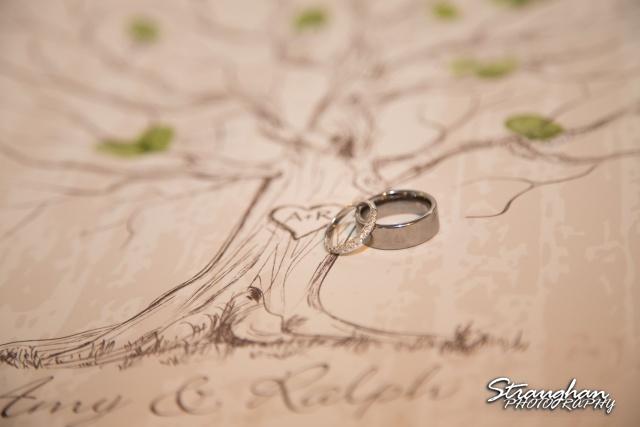 Sheehan wedding Inn on the riverwalk rings