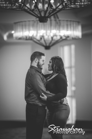 Allie and Ryan's engagement La Cantera hallway close up