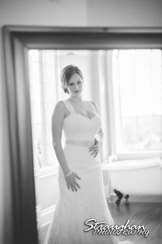 Allyson Wedding Kendall Plantation in mirror