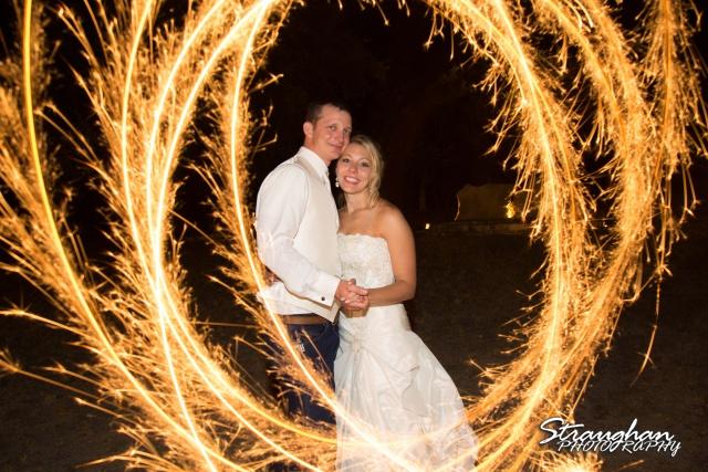 Amanda Red Coral Ranch sparkler circle