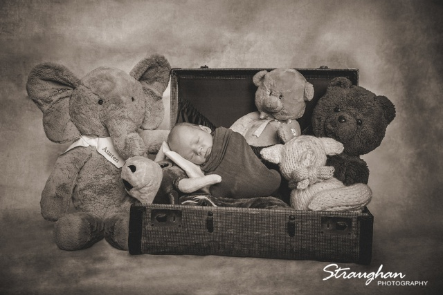 Garrison newborn session with the toys