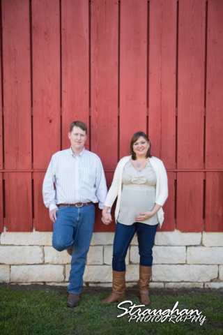 Carol maternity red wall couple